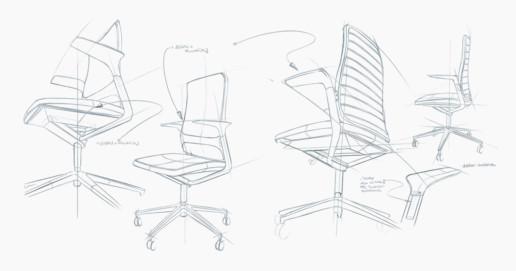 Volker Eysing Industriedesigner – Drabert IOS Funktionsstuhl Entwicklung Zeichnung